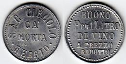 GETTONE IN ALLUMINIO - S.A.C. CIRCOLO CA' MORTA - REBBIO - COMO - Monetari/ Di Necessità