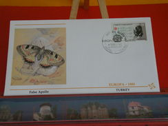 Papillon, False Apollo > Turquie, Turkey > Europa CEPT 1985 - 29.4.1985 - FDC 1er Jour - 1921-... República