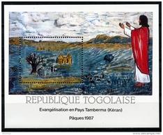Togo, 1987, Easter, Religion, Fresco, MNH, Michel Block 294 - Togo (1960-...)