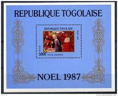 Togo, 1987, Christmas, Painting, Art, MNH, Michel Block 299 - Togo (1960-...)