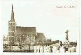 Meensel. Kerk En Kerkhof. - Tielt-Winge
