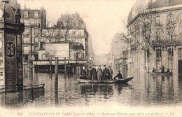 Inondations De Paris 1910 - Boulevard Diderot Angle Rue Bercy (éditeur LL N°145) - Überschwemmung 1910
