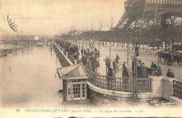 Inondations De Paris 1910 - La Ligne Des Invalides (éditeur LL N°29) - Überschwemmung 1910
