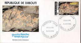 27757 Djibouti,  Fdc 1989  Rock Painting, Peintures Rupestres, Felsmalereien,  Prehistory, - Prehistory