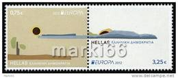 Greece - 2012 - Europa CEPT, Visit Greece - Mint Stamp Set (with Gold Embossing) - Grèce