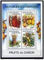 Gabon, 1989, Fruit, Fruits, Food, MNH, Michel Block 62 - Gabon