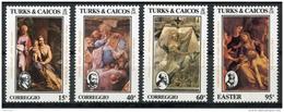 Turks And Caicos Islands, 1984, Easter, Correggio, MNH, Michel 694-697 - Turks And Caicos