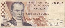 BILLETE DE ECUADOR DE 10000 SUCRES DEL 14 DE DICIEMBRE DEL AÑO 1998 (BANKNOTE) - Ecuador