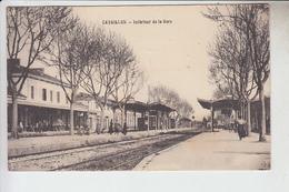 RT30.345   CAVAILLON..INTERIEUR DE LA LA GARE  VAUCLUSE. - Stations Without Trains
