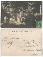 CPA Photo Cachet CABOURG (14) Une Partie De Carte Entre Amis Dans Le Jardin D'une Villa Petite Folie à Colombages - Cabourg