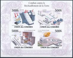 NB- Comores 2009 - BL1922/1925, Lutte Contre Le Réchauffement Climatique, Energie Solaire, Eolienne, Nucléaire, Biocarbu - Protection De L'environnement & Climat