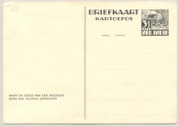 Nederlands Indië - 1941 - 3,5 Cent Karbouw Offset Printing Briefkaart G68 Ongebruikt - Not In H&G - Niederländisch-Indien