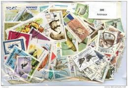 300 Timbres Thème Animaux - Briefmarken