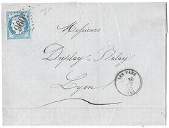 LETTRE Avec N°60 A2  POSITION 46 ; Début 1er état  TTB - 1871-1875 Cérès