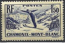 "FR YT 334 "" Chamonix Mont-Blanc "" 1937 Neuf* - Unused Stamps"