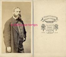 CDV Homme à La Belle Prestance, De Caractère-vers 1860-photographe Odinot à Nancy - Fotos
