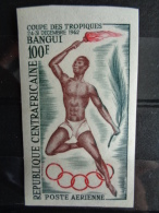 REPUB. CENTRAFRICAINE 1962 P.A. NON DENTELE Y&T N° 9** - COUPE SPORTIVE DES TROPIQUES - Centrafricaine (République)