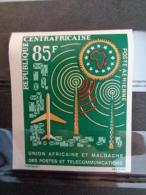 REPUB. CENTRAFRICAINE 1962 P.A. NON DENTELE Y&T N° 10** - 2e ANNIV. DE L' U.A.M.P.T. - Centrafricaine (République)