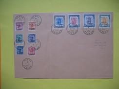 Timbre 1952 N° 116 à 125 Oblitéré Sur Lettre Série Complète    TTB - Libia
