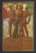 ITALIA REGNO ITALY KINGDOM APRILE NOVEMBRE 1911 ESPOSIZIONE INTERNAZIONALE DELLE INDUSTRIE E DEL LAVORO CARTOLINA CARD - Esposizioni