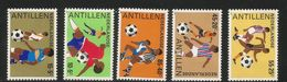 1985 Netherlands Antilles Football  Complete Set Of 5 MNH - Curacao, Netherlands Antilles, Aruba