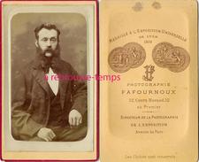 CDV Homme Avec Rouflaquettes Vers 1872-photo Fafournoux à Lyon - Photos