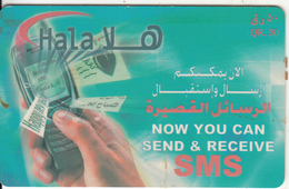 QATAR - Mobile Phone, Q-Tel Prepaid Card QR50, 08/03, Used - Qatar