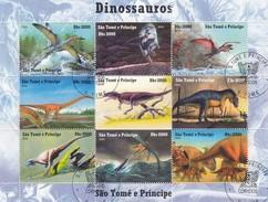 BLOC DINAUSAURES SAO TOME E PRINCIPE DINOSSAUROS 2004 - Preistorici