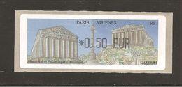 France, Distributeur, 596, Athènes, Paris, 2004, Type AC, Neuf **, LISA 1 - 1999-2009 Vignettes Illustrées