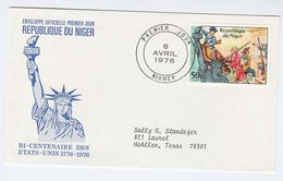 1976  NIGER  FDC Stamps STATUE OF LIBERTY , US BICENTENNIAL Cover - Niger (1960-...)