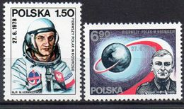 Polen, 1978, Interkosmos/1.polnischer Kosmonaut, Michel 2563/64, Postfrisch/**/MNH - 1944-.... République