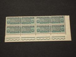 ITALIA REPUBBLICA-PACCHI CONCESSIONE-1958 CIFRA L.120, Quartina/block Of Four) - NUOVI(++) - 6. 1946-.. Repubblica