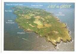 Groix (56) Vue Generale-plage Des Grands Sables-pointe Des Chats-port St Nicolas-port Tudy-pen Men-pointe Du Grognon - Groix