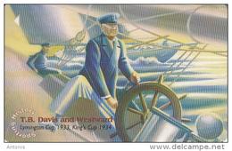 JERSEY ISL. - Sporting History/T.B.Davis, CN : 69JERA(normal 0), Tirage %30000, Used - United Kingdom