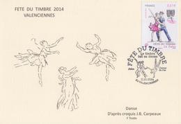 Carte   Locale   FETE  Du  TIMBRE    VALENCIENNES   2014 - Journée Du Timbre