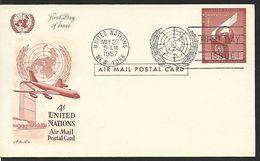 ! -  ONU (United Nations) - First Day Of Issue - Cachet De New-York Du 27-05-1957 - 1 Carte Et 1 Enveloppe - Air Mail - Non Classés