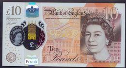 UK Great Britain 10 Pounds 2016 ( 2017 ) UNC Polymer - 1952-… : Elizabeth II