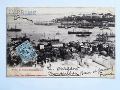 C.P.A. CONSTANTINOPLE : Pointe Du Serail, Timbre 1906 - Turquie