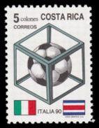 Soccer Football Costa Rica #1371 1990 World Cup Italy MNH ** - 1990 – Italie