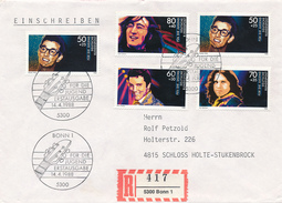 GERMANY - 1988 , Musiker - Buddy Holly , John Lennon , Elvis Presley , Jim Morrison - Musik