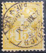 SUISSE                N° 69       Aminci                    OBLITERE - 1882-1906 Stemmi, Helvetia Verticalmente & UPU