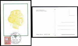 14.5.1979 ITALIA CARTOLINA MAXIMUM 1500 LIRE ALTI VALORI CON ANNULLO FDC - Maximum Cards