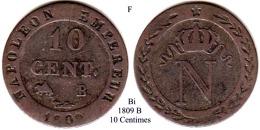 F-1809 B, 10 Centimes - Francia