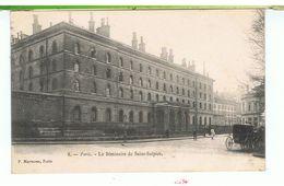 CPA-75-1905-PARIS-LE SEMINAIRE DE SAINT-SULPICE-ANIMEE-PERSONNAGES-ATTELAGES- - Formación, Escuelas Y Universidades