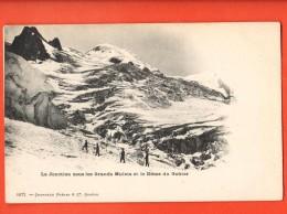 MIJ-14  Lfa Jonction Sous Les Grands Mulets Et Le Dôme Du Gouter., Alpinistes,  ANIME. Précurseur, Non Circulé - Chamonix-Mont-Blanc