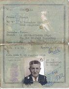 CARTE NATIONALE D'IDENTITE N° KU03131  TOULON VAR  1958 - Mappe
