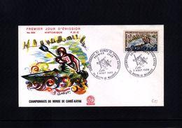 France / Frankreich 1969 Canoe-Kayak World Championship FDC - Kanu