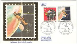 FRANCIA - France - 1988 - La Bande Dessinée Française - FDC Sur Soie - CEF - Angoulême - FDC