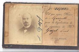 VU PAR NOUS, MAIRE DE MARSEILLE POUR LA LEGALISATION DE LA SIGNATURE DE MR Gazel Louis  N°18501 - Mappe