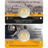"""Pièce Commémorative  2 Euro Coincard Belgique 2017  """"  Universite De Liège  """" - België"""